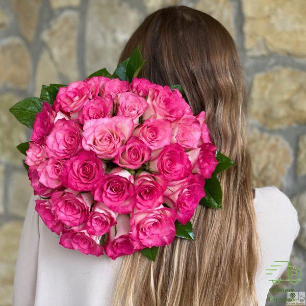 Bouquet di rose rosa