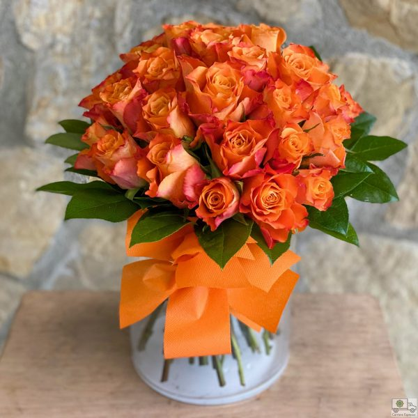 Bouquet di rose arancio